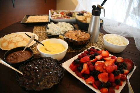 A scrumptious smorgasbord complete with gluten-free crepes
